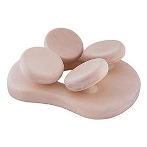Abachi Holz – Sauna Kissen Kopfstütze ergonomisch perfekt für jeden Kopf
