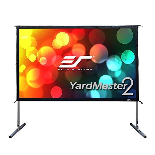 "Elite Screens OMS120H2 Yard Master 2"" Mobile Outdoor Leinwand, 304 cm (120 Zoll) Weiß/Schwarz"