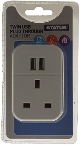 status-s2usbptawh1pk3-twin-usb-plug-through-socket-adaptor