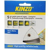 Kinzo 71730 5 triangles Papier pour décapage peinture 90 x 90 x 90 mm G60