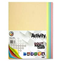 Premier Stationery S4586479 A4 160 gsm Activity Card - Rainbow Pastel (Pack of 50 Sheets)