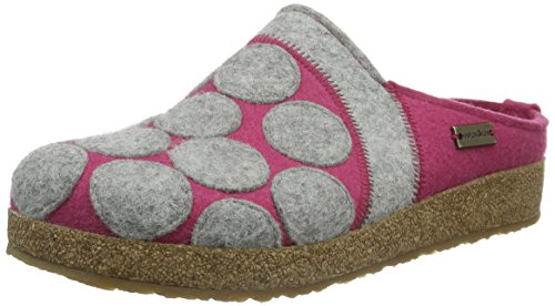 Haflinger Dots, Ciabatte Donna Rosa (Pink (Fuchsia 34))