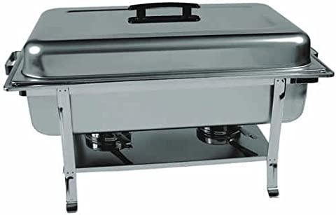 Update International (CC-5P) 8 Qt Stainless Steel Rectangular Continental Chafer w/Welded Legs by Update International