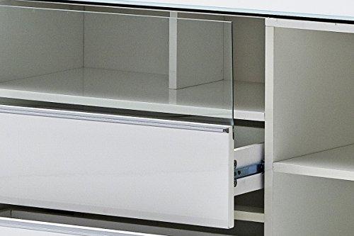Robas Lund 48773W54 Canberra 2 Lowboard,Hochglanz weiß 165 x 41 x 58 cm - 5