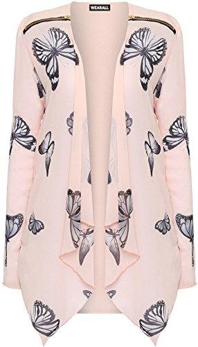 plus-size-womens-long-sleeve-chiffon-butterfly-print-zip-cardigan-ladies-top-18-nude