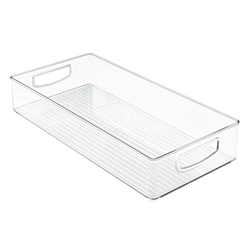 Kuchen-boxen (InterDesign Cabinet/Kitchen Binz Aufbewahrungsbox, großer Küchen Organizer aus Kunststoff, lange Box, durchsichtig)