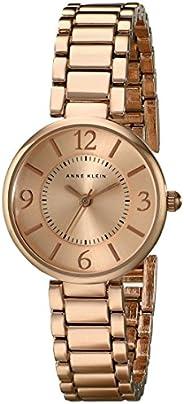ساعة ان كلاين بسوار ذهب وردي للنساء Ak1870Rgrg ، شاشة انالوج