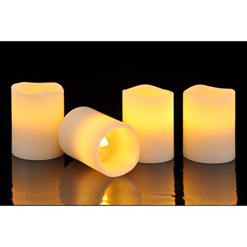 Preisvergleich Produktbild 4 LED Echtwachs Kerze flammenlose Kerzen Sensor An-und Auspusten Anpustefunktion