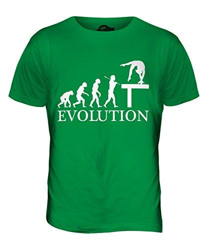 CandyMix Gymnastik Schwebebalken Evolution Des Menschen Herren T Shirt Grün