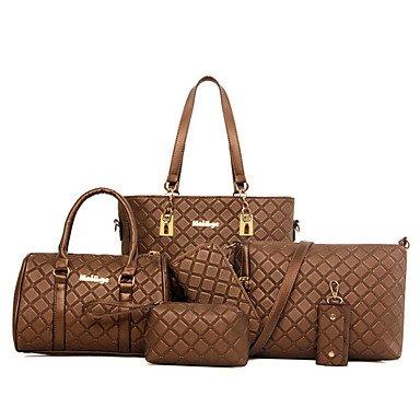 La donna pu canna borsa a tracolla / Tote / Cartella / frizione / Wallet-White / blu / Oro / marrone / nero,blu Brown