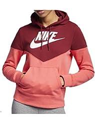 Nike W NSW Hrtg Hoodie FLC Sweat-Shirt Femme