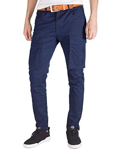 Italy Morn Pantaloni Chino Cargo Uomo Moda Confortevole da Lavoro 2XL Blu Navy