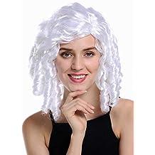 WIG ME UP ® - 91308-ZA62 Peluca Mujer Carnaval Halloween Barroco Rococó Biedermeier Gótico