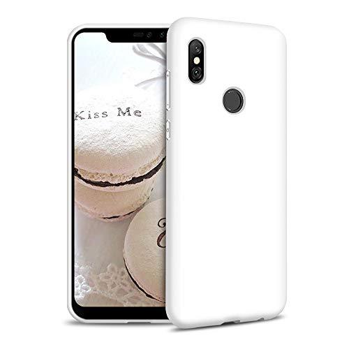 Funda para Xiaomi Redmi Note 6 Pro Carcasa Silicona Xiaomi Redmi Note 6 Pro, Silicona Gel TPU Case Goma Colores del Caramelo Anti-Rasguño Resistente Ultra Suave Protectora Caso - Blanco