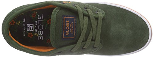 Globe Motley, Scarpe da Ginnastica Unisex-Adulto Verde (Olive/Rust)