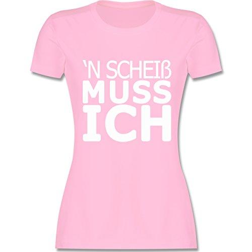Statement Shirts - 'N Scheiß muss ich - tailliertes Premium T-Shirt mit  Rundhalsausschnitt