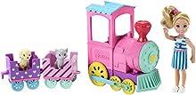 Barbie- Club Chelsea Bambola e Trenino con 3 Vagoni Agganciabili, Colore Nd, FRL86
