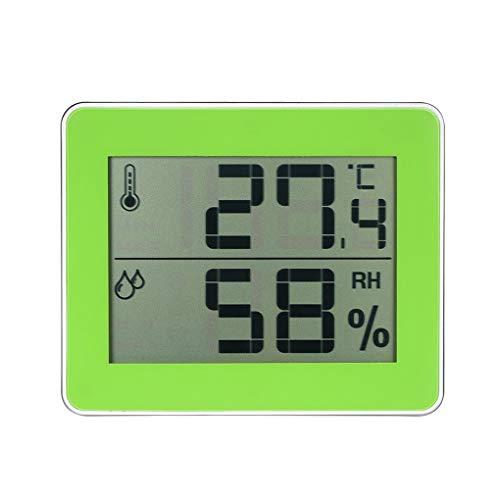 Fornateu Indoor-LCD-Digital-Thermometer-Hygrometer Mini Temperatur- und Feuchtigkeitsmessgerät Innen Außen Wand befestigte