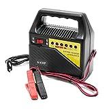 WilTec Chargeur de Batterie Automobile 6V 12V Appareil de Charge Portable Batterie...