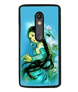 printtech Beautiful Anime Chinese Girl Back Case Cover for Motorola Moto G3 , Motorola Moto G (3rd Gen)