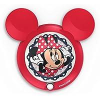 Philips Disney Minnie Mouse - Luz nocturna rcon sensor, luz blanca cálida, bombilla LED incluida