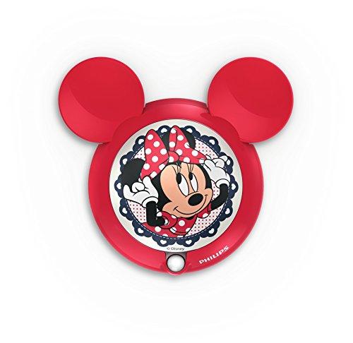 (Philips Disney Minnie Maus LED Nachtlicht mit Bewegungssensor, rot, 717663116)