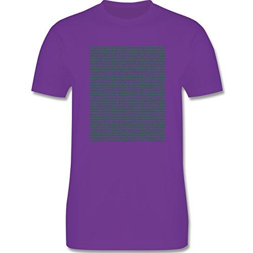 Programmierer - Binärcode - Herren Premium T-Shirt Lila