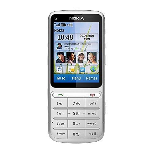 Nokia C3-01 Handy, 5 MP Kamera, silver