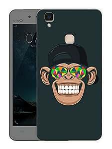 "Humor Gang chimp tripping Printed Designer Mobile Back Cover For ""Vivo V3"" (3D, Matte Finish, Premium Quality, Protective Snap On Slim Hard Phone Case, Multi Color)"
