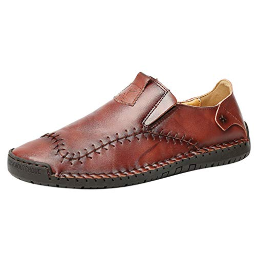 YU'TING ☀‿☀ Mocassini in Pelle da Uomo Scarpe Casual Scarpe da Corsa Traspiranti Outdoor Walking Youth Fashion Oxford Business Sneaker da Uomo
