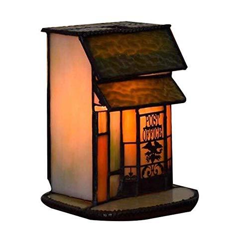 Tiffany Style Small House Lámpara mesa País Pastoral
