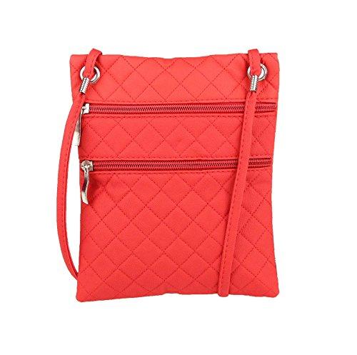 Sac femmes Mini Sac À Bandoulière Sac bandoulière Sac de soirée Sac à main Clutch CrossOver sac - rouge, 16,5x20,5 cm (LxH), 16,5x20,5 cm (BxH) rouge