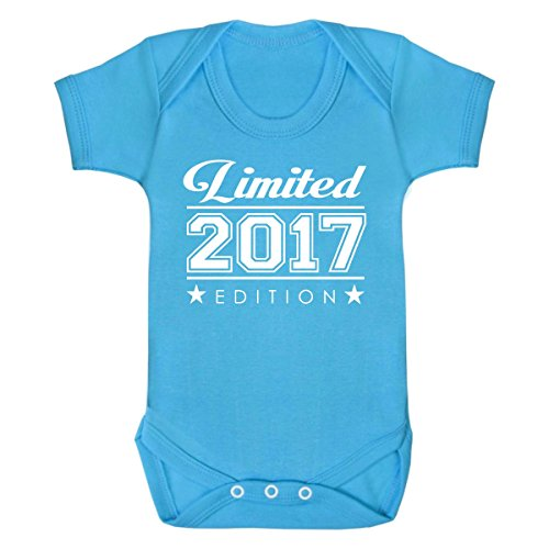 Purple Penguin Clothing Baby Grow - Limited 2017 Edition - Turquoise -  White Print 6- 4021eb399