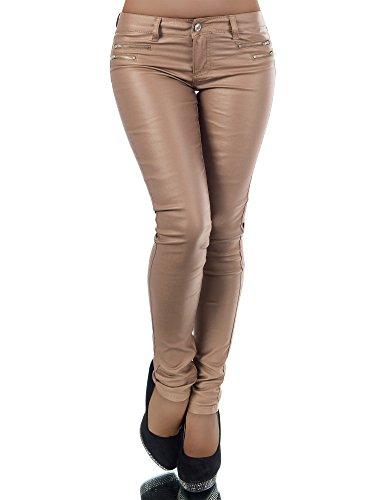 Damen Jeanshose Skinny L521, Größen 40 (L), Farben Gold