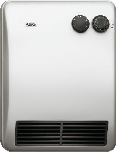 AEG 184399 VH 229 Ventilatorheizung, besonders geräuscharme Heizung für das Bad, 2000 W mit 24 Stunden-Schaltuhr