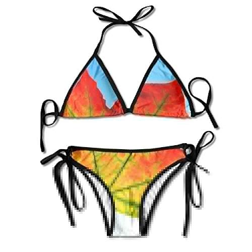 Bikini Swimwear Women's Thong Bikini Suit Swimsuit Landscape Tree Nature Forest Grass Outdoor Sexy Bikini Set 2 Piece