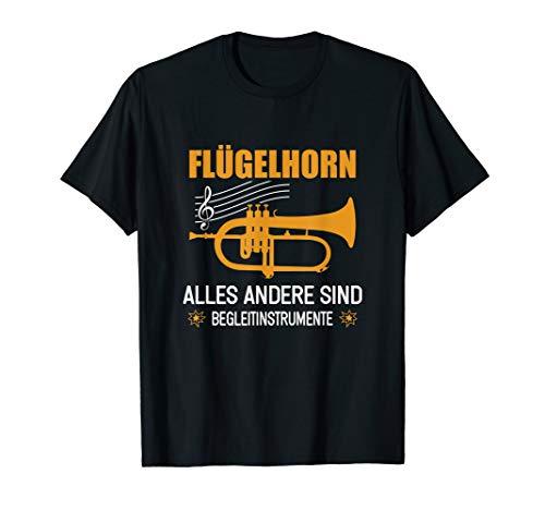 Herren T-Shirt Flügelhorn | Flügelhornist Instrument Spruch T-Shirt
