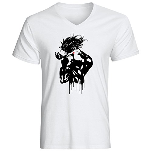 Shadow Dio JoJo's Bizarre Adventure anime manga Men's Vneck T-shirt Weiß