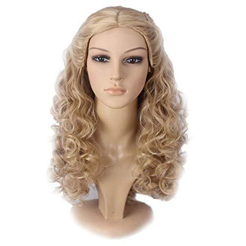 Damen Perücke, Cinderella Modische braune lange lockige Haare Cosplay Hochwertige Party Perücke