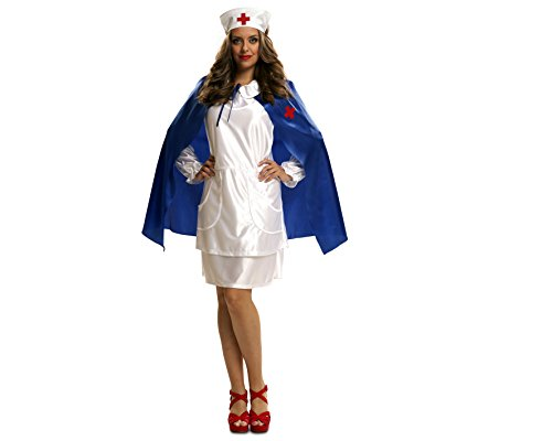 My Other Me - Disfraz Enfermera con capa azul adulto, talla XL (Viving Costumes MOM02632)