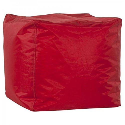 Paris Prix - Pouf Design Cube Rouge