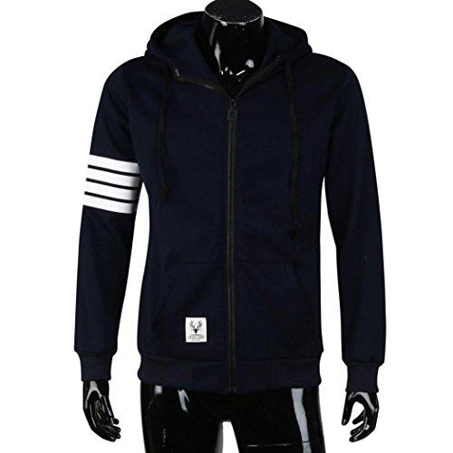 Tonsee® Mode homme Pulls Marque Sport Suit Haute Qualité Sweatshirt à capuche Casual Zipper capuche Vestes Homme Marine