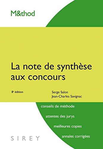 La note de synthèse aux concours - 8e éd.