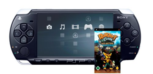 PlayStation Portable - PSP Konsole Slim&Lite Black (Ratchet & Clank - Size Matters Bundle)