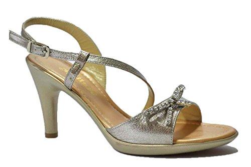 Melluso Sandali scarpe donna argento R5645 36