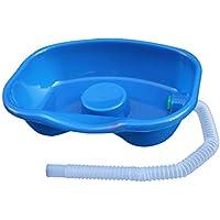 Healifty Aufblasbares Haarwaschbecken für medizinische Haarwaschbecken für Behinderte, Schwangere und ältere Menschen (dunkelblau)