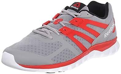 Reebok Men's Sublite XT Cushion MT Running Shoe, Tin Grey/Motor Red/White/Black, 9.5 M US