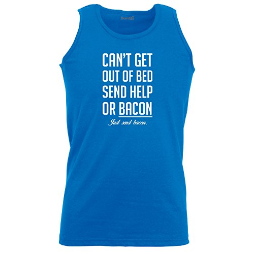 Brand88 - Can't Get Out Of Bed Send Bacon , Unisex Athletic Weste Koenigsblau