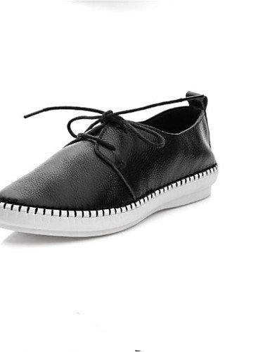 ZQ Scarpe Donna - Mocassini - Tempo libero / Casual - Comoda / Punta arrotondata - Piatto - Tessuto - Nero / Bianco , white-us8 / eu39 / uk6 / cn39 , white-us8 / eu39 / uk6 / cn39 white-us8 / eu39 / uk6 / cn39