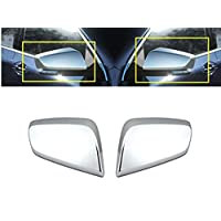 eLoveQ Chrome TOP Half Mirror Covers Compatible with 2014-2018 Chevy Impala ^NOT FIT Limited Model^